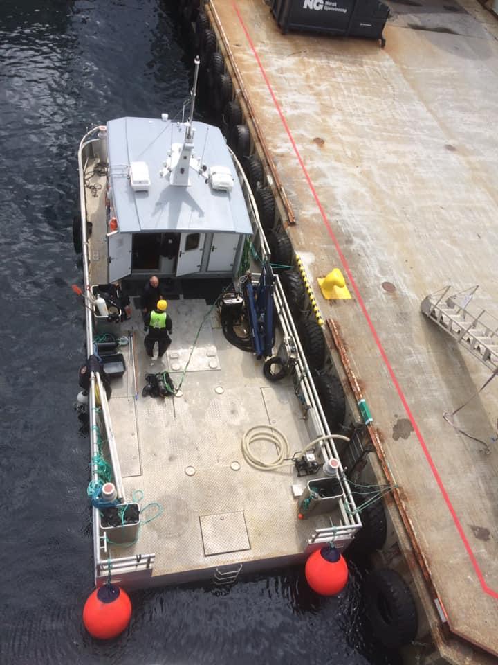 Inspeksjon båt på Fjordbase - Sjøtjenester Florø - sjotjenesterfloro.no